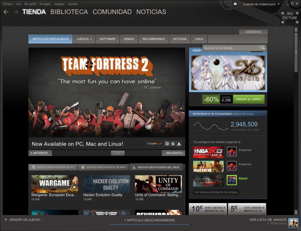 steam-en linux