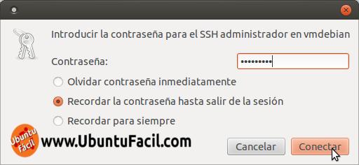 Acceder con Nautilus a un servidor SFTP