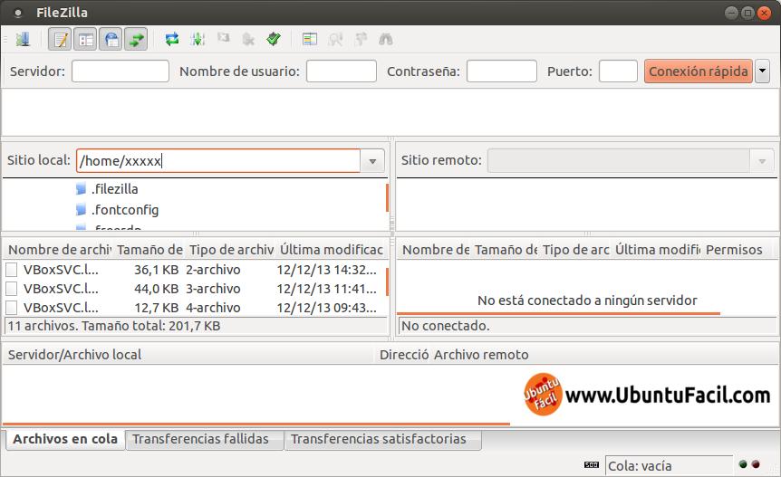 Accediendo a un servidor ssh con filezilla, mediante SFTP