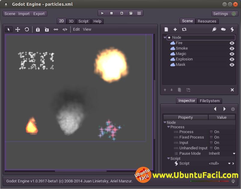 Interface de Godot Engine en Ubuntu | Ubuntu Fácil