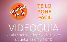 Instalar controladores adicionales en Ubuntu