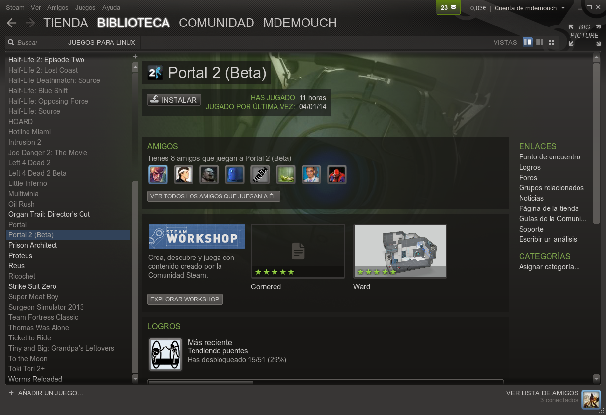 Beta de Portal 2 disponible para Linux en Steam