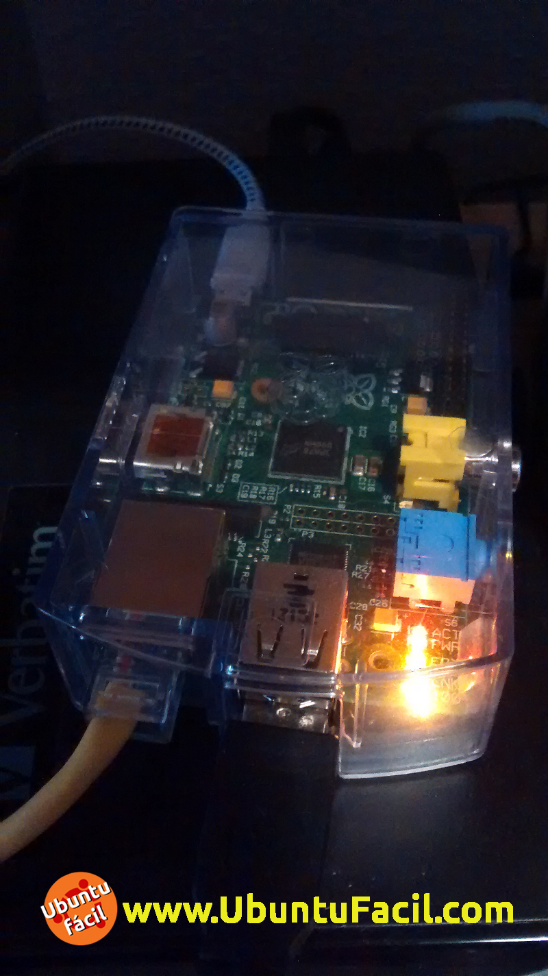 Raspberry Pi en funcionamiento