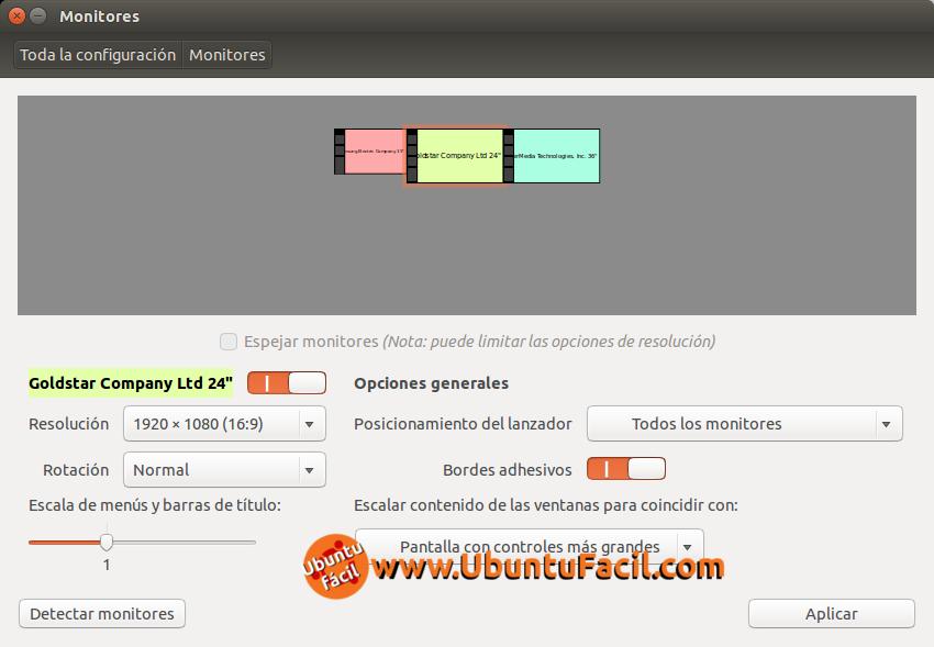 3 monitores en ubuntu